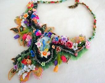 Art  Garden necklace spring in the garden