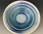 DESSERT DISH - Ice Cream Dish - Ceramic Bowl - Blue Dish - Studio Pottery