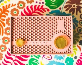 Still Life Photo, Fine Art Photography, Pink Radio, Retro Decor, Vintage Radio, Art Print, Home Decor, Mid Century Design, Pink Decor, Music