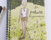 Gratitude Journal - Let Nature be Your Medicine -Gift Ideas - Notebooks - Gifts for Women Teachers -