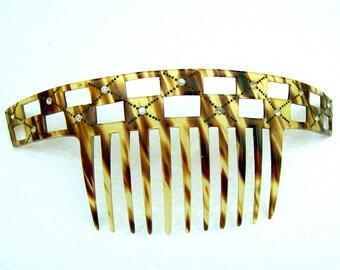 Art Deco faux tortoiseshell hair comb headdress headpiece hair accessory decorative comb