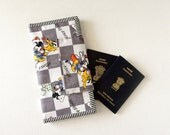 Disney Family Passport Holder, Mickey Mouse Travel Document holder,  Pluto Disney Family travel wallet and document organizer