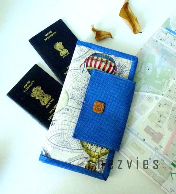 Family passport holder and travel document organizer by for Family travel document organizer