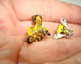 1960s Yellow and Black Bee Pins.
