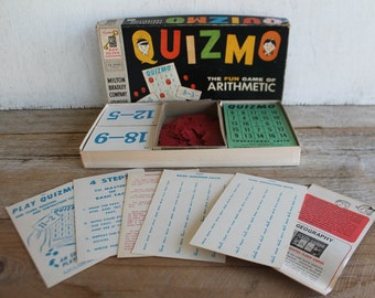 Vintage 1958 Quizmo Game // Milton Bradley // Addition & Subtraction Game