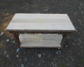 Rustic Cedar Twigs Coffee Table Custom Work Available Upon Request