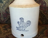 Early McCoy pottery  chicken, poultry waterer