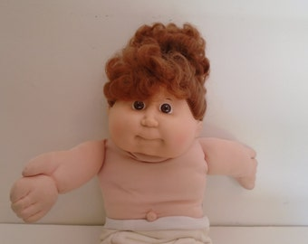 vintage Cabbage Patch Kid, cornsilk hair, 1986