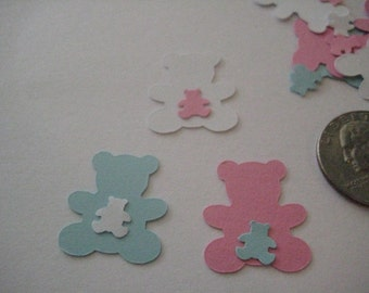 Baby Boy, Baby Girl or Gender Reveal Teddy Bears  Table Scatter or Confetti