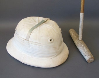 Vintage Polo Helmet from England - Vintage Field Sports - Holbrow Polo Specialists