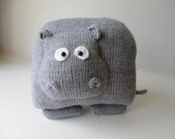 Hippo Cushion Knitting Patterns