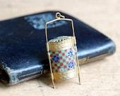 SALE // Vintage Japanese enamel inro style pendant ∙ enamel compartment pendant