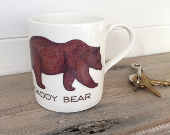 Daddy Bear Illustration Bone China Mug