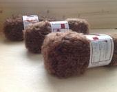 MOHAIR BOUCLE YARN - light Brown - Doll Hair 10gr & 50gr