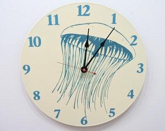 Sea Jelly Jellyfish clock olyteam
