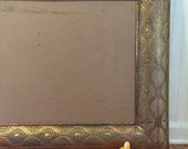 INTRICATE INDIAN FRAME Brass Plated LaRgE 50 X 28, India Picture Frame, India Mirror Frame, Bollywood Frame, Moroccan Decor, at Modern Logic
