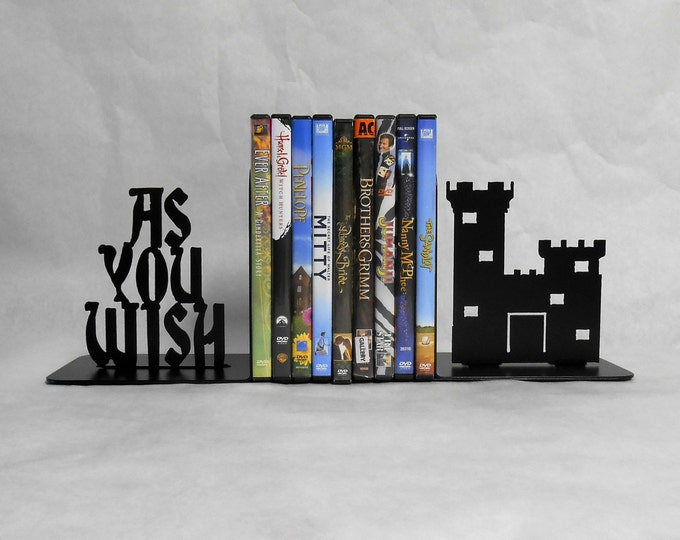 As You Wish, Metal Art Bookends, Castle, Movies, Books, The Princess Bride, Organizer