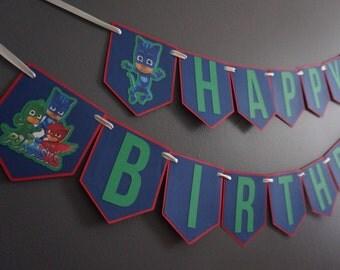 PJ Masks Birthday Banner - Made to Order