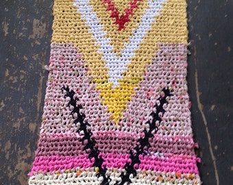 Sunshine Tapstry Crochet Rag Rug