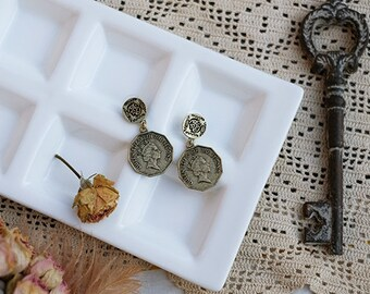 Copy antique coin series earrings --one