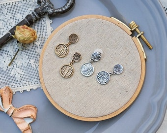 Copy antique coin series earrings --four