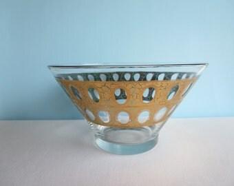 Vintage Culver Bowl - 22 karat Gold - Culver 'Pisa' Pattern