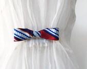 Silk Print Bow Tie Cinch Clip