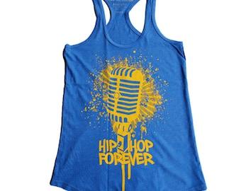 Hip Hop Forever Microphone  Racerback - ON SALE!