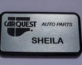 Name badge with magnetic fastener, FREE custom engraving, custom color