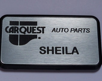 Name badge with magnetic fastener, FREE custom engraving, custom color