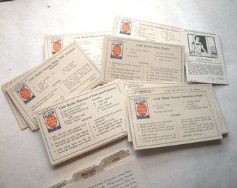 Washburn Crosby Gold Medal Flour Recipe Cards and Dividers 1930s