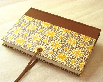 Leather Journal Sketchbook with Italian Printed Paper