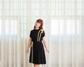 50% OFF - 40s Dress - Vintage 1940s Rayon Dress - Walk the Line Dress