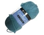 Berroco Comfort DK Yarn in  Color 2758, Crypto Crystalline Medium Blue Nylon and Acrylic Blend, Soft Vegan Yarn, Great for Baby, Summer item