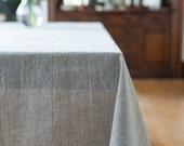 Linen Tablecloth, Natural Linen, Linen Table Cloth, Bohemian Linen Table Cloth, Linen