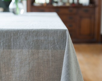 Linen Tablecloth, Natural Linen, Linen Table Cloth, Bohemian Linen Table Cloth, Linen