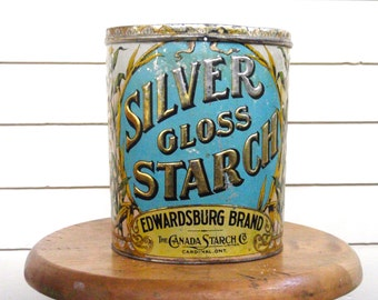 Silver Gloss Starch Tin