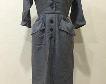 Vintage 1940's secretary dress
