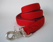 Red Velvet Dog Leash, Red Velvet Lead, 5 Foot Leash, 6 foot Leash, Dog Lead, Red Velvet Lead, Christmas