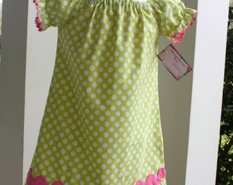 Spring / Easter Peasant Dress, size 3t, ready to ship, Last one