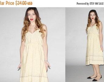 SALE 65% OFF ends 02/16 Vintage 1970s Dress - Vintage 70s Floral  Dress - The  Sweet Butter  Dress - 1080