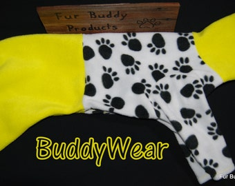 "Reduced 17.5""  Ready to Ship BuddyWear fleece outfit for Italian Greyhounds, Hairless Terriers, Cresteds and all small dogs"