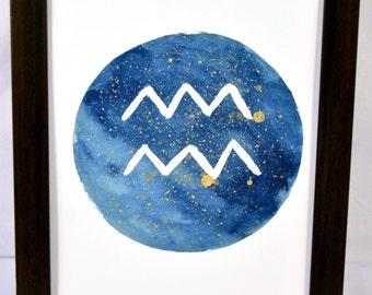 Original Aquarius Zodiac Symbol