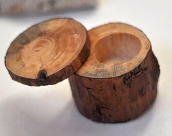 ring box • ring bearer pillow • pine wood box