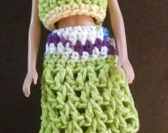 Crochet barbie outfits