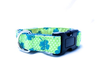"Houndstown 1"" Clover Buckle or Martingale Collar, Any Size"