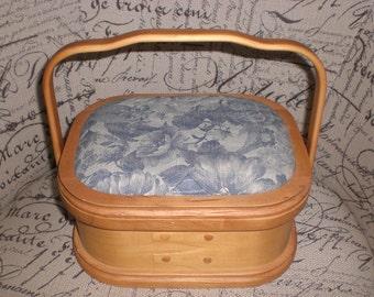 Sewing basket,Wooden sewing box, organizer