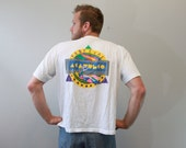 Vintage 90s Festival Tee Shirt Surfer Shirt Water Sports