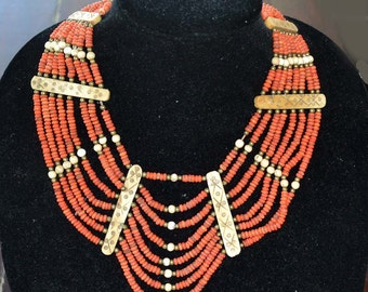 Naga Necklace, Naga People, Multistrand Bib Style