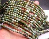 Australian Bloodstone - 6mm round beads -1 full strand - 67 beads - Autralian Matrix bloodstone - RFG925